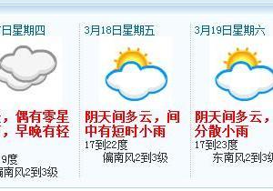 东莞今明两天阴冷天持续 能见度较低