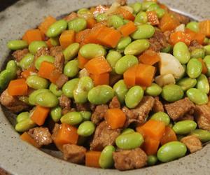 家常菜肉末毛豆,消暑开胃